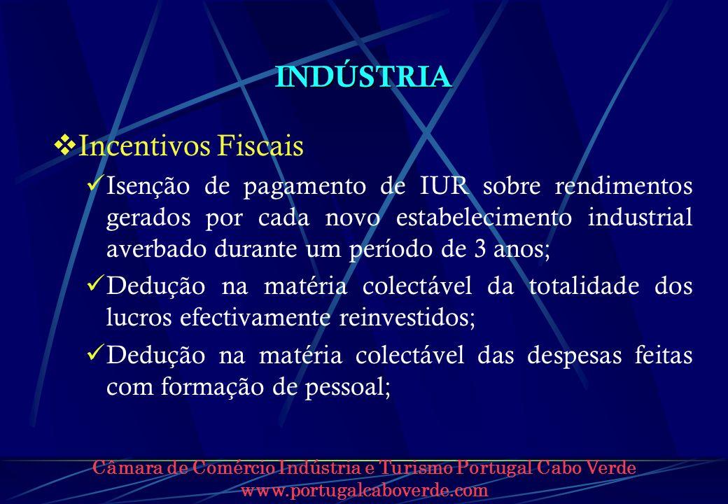 INDÚSTRIA Incentivos Fiscais