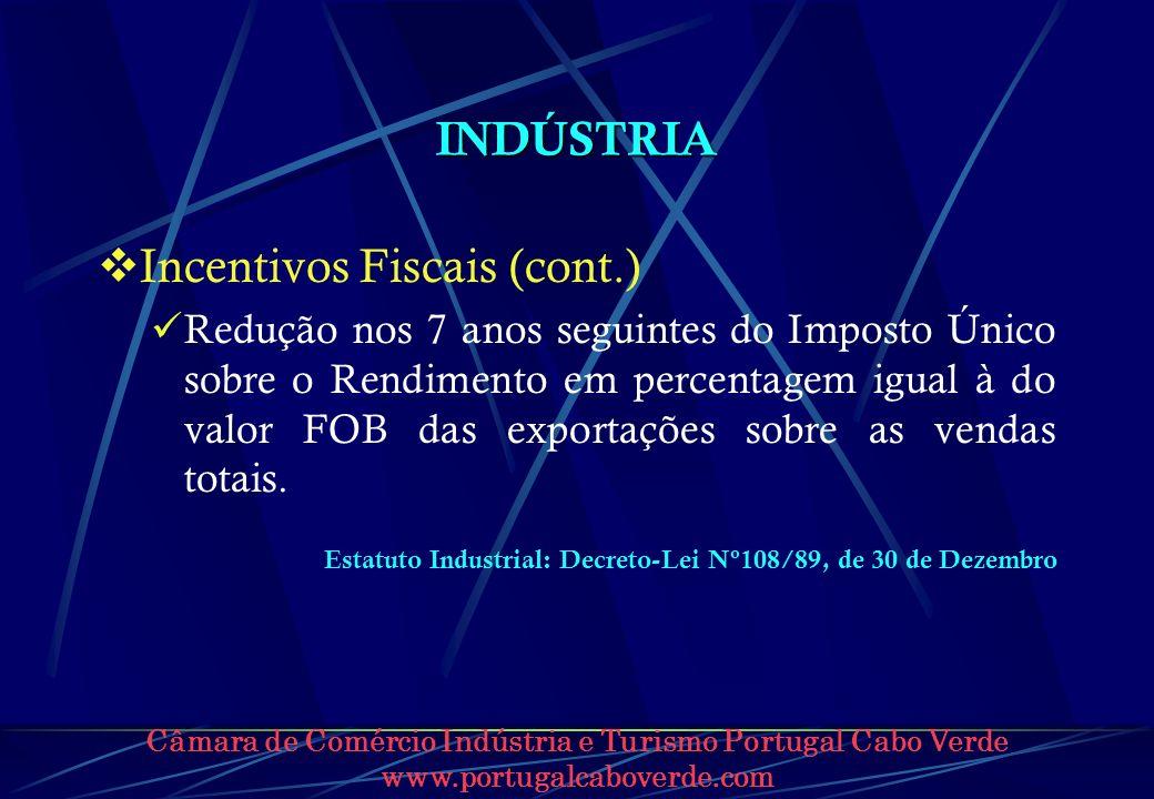 Incentivos Fiscais (cont.)