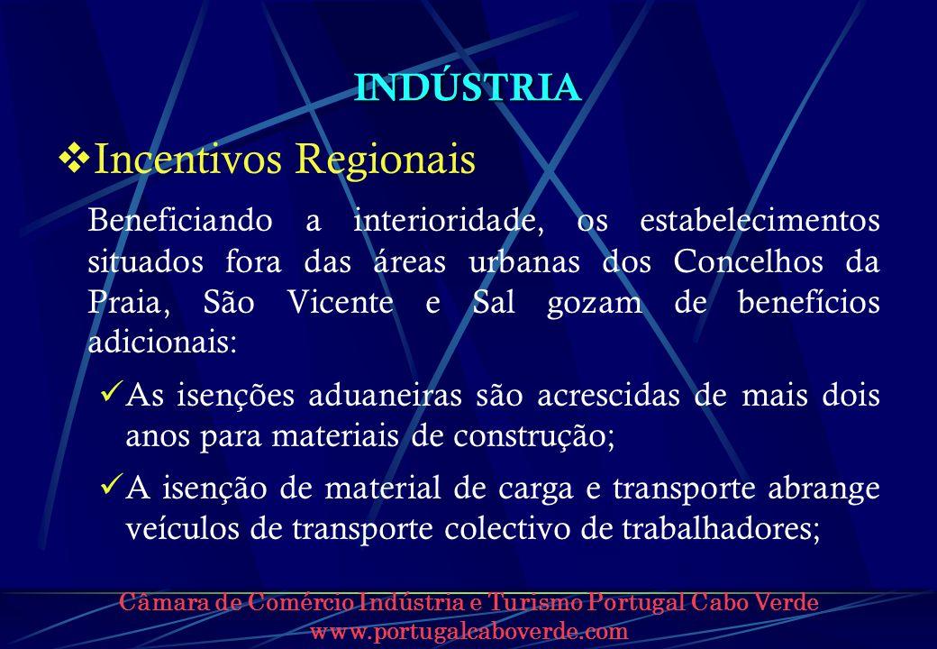 Incentivos Regionais INDÚSTRIA