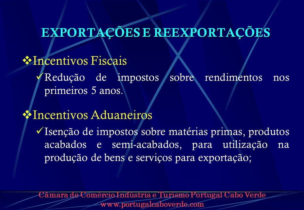 EXPORTAÇÕES E REEXPORTAÇÕES