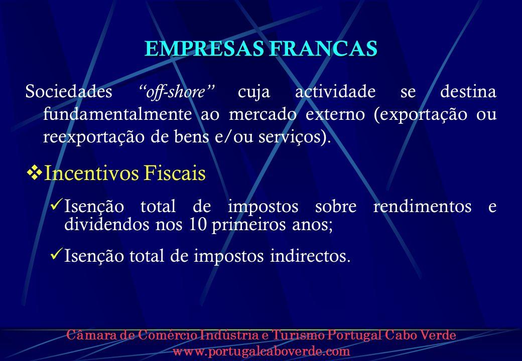 EMPRESAS FRANCAS Incentivos Fiscais