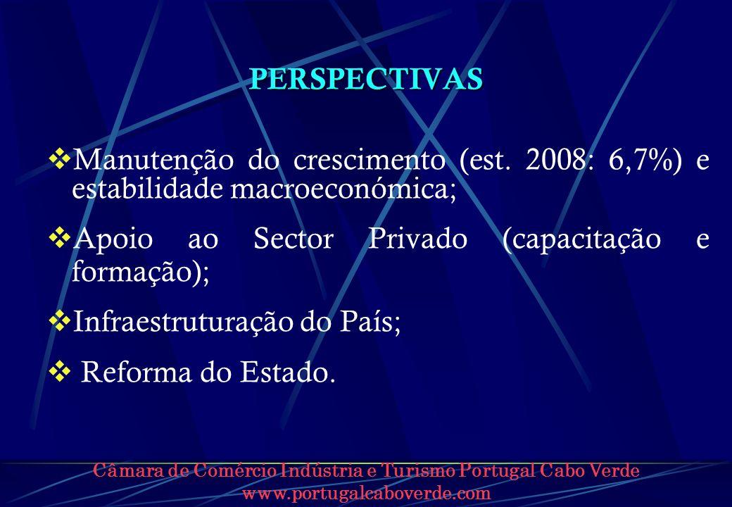 Apoio ao Sector Privado (capacitação e formação);