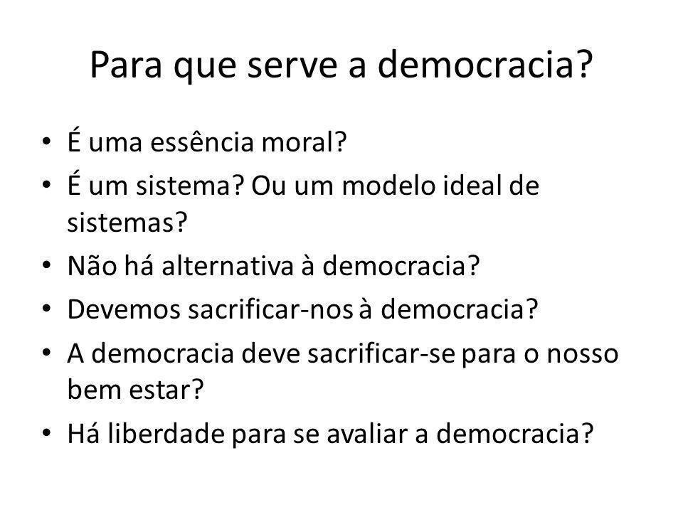 Para que serve a democracia