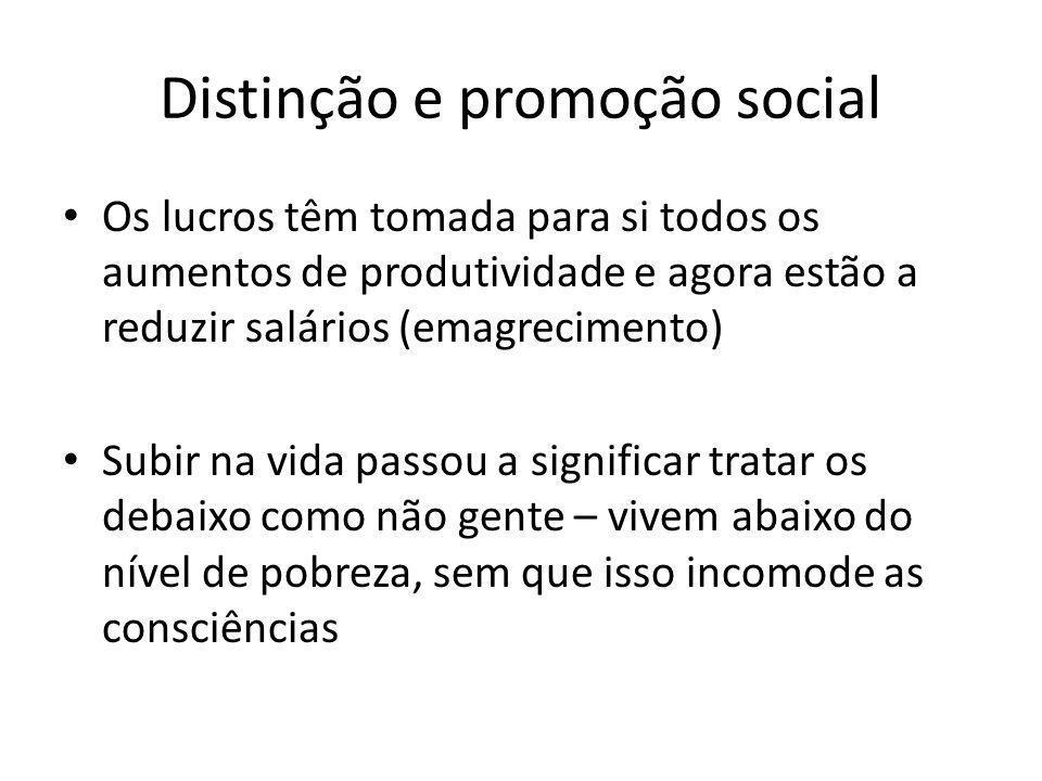 Distinção e promoção social