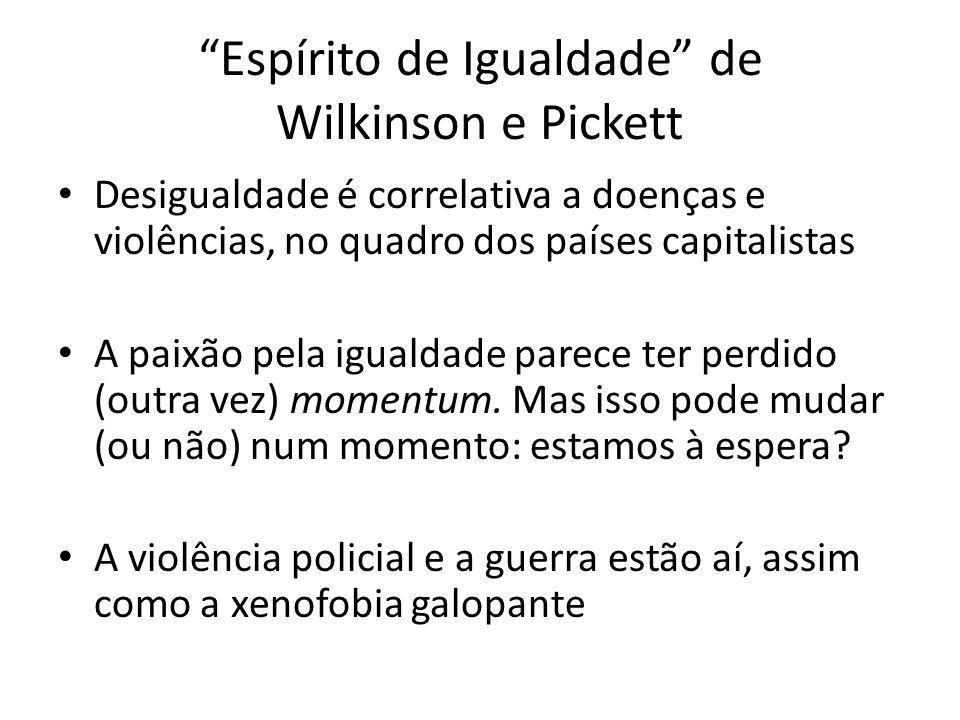 Espírito de Igualdade de Wilkinson e Pickett