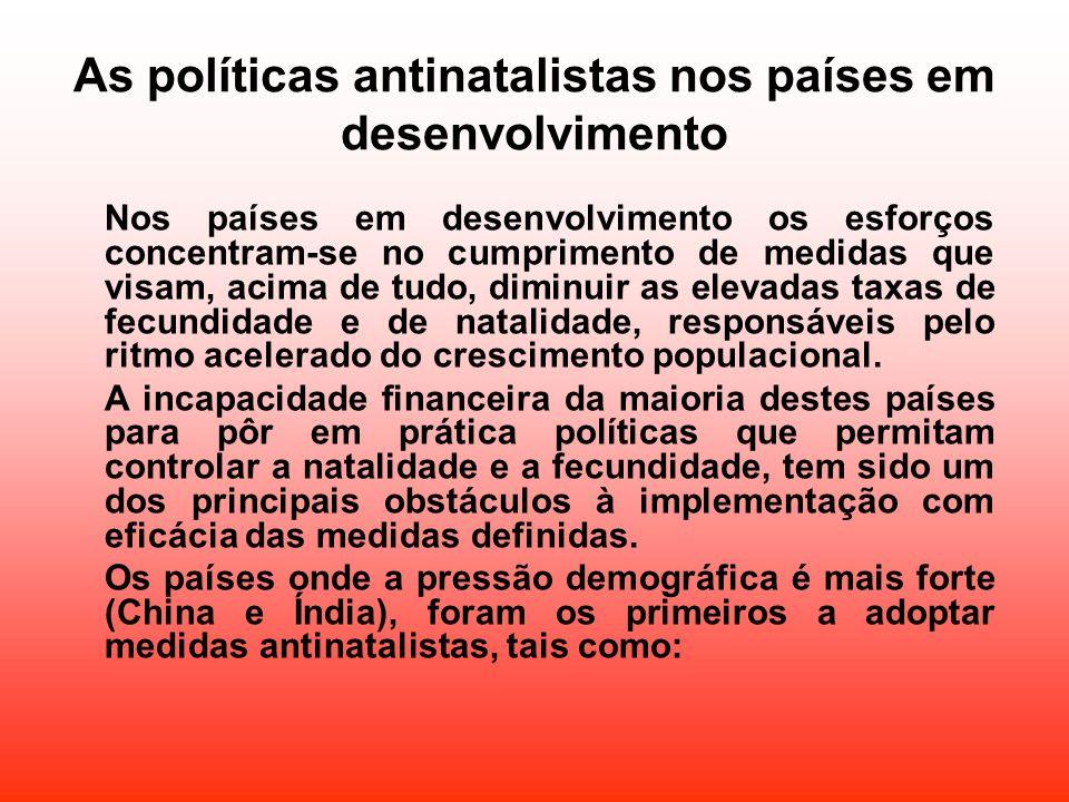 As políticas antinatalistas nos países em desenvolvimento
