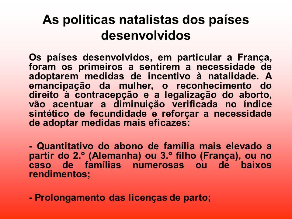 As politicas natalistas dos países desenvolvidos