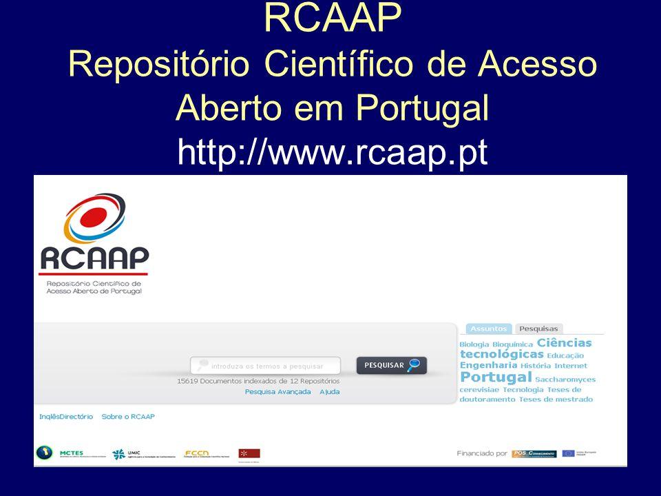 RCAAP Repositório Científico de Acesso Aberto em Portugal http://www