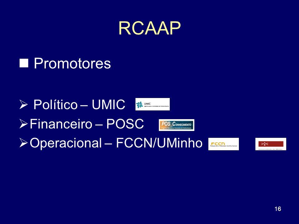 RCAAP Promotores Político – UMIC Financeiro – POSC