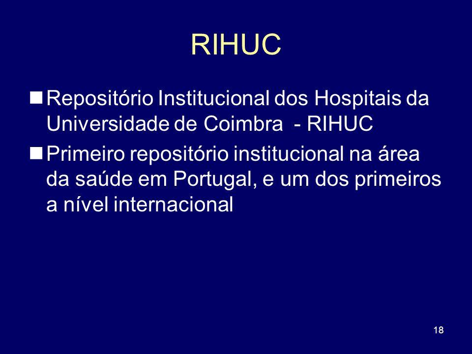 RIHUC Repositório Institucional dos Hospitais da Universidade de Coimbra - RIHUC.