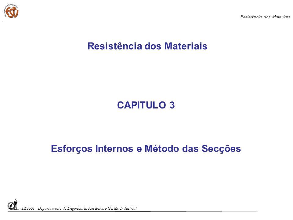 Resistência dos Materiais Esforços Internos e Método das Secções
