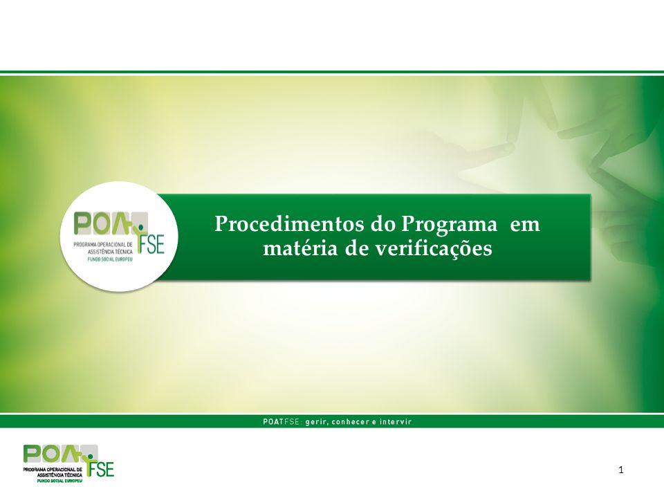 Procedimentos do Programa em matéria de verificações