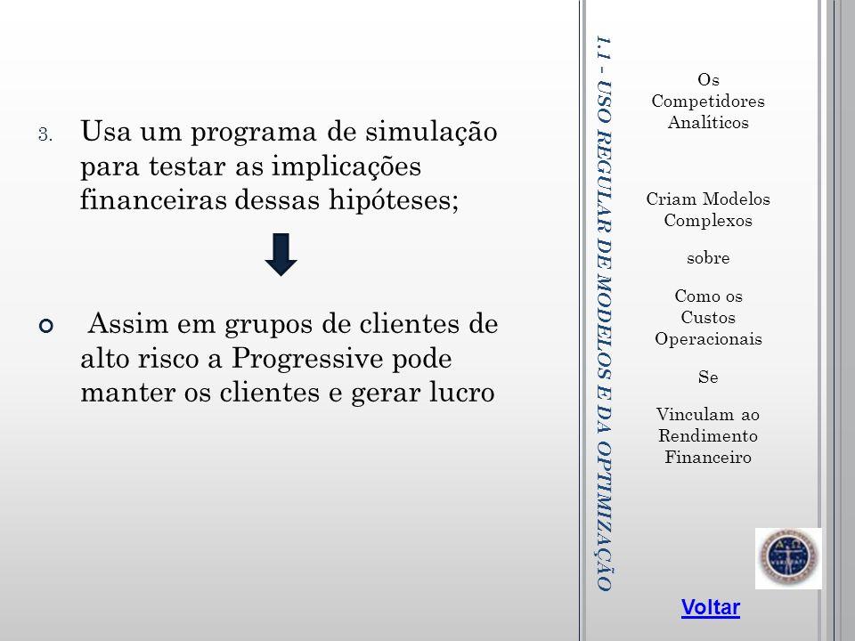 1.1 - USO REGULAR DE MODELOS E DA OPTIMIZAÇÃO