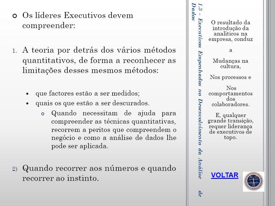 1.3 - Executivos Empenhados no Desenvolvimento da Análise de Dados
