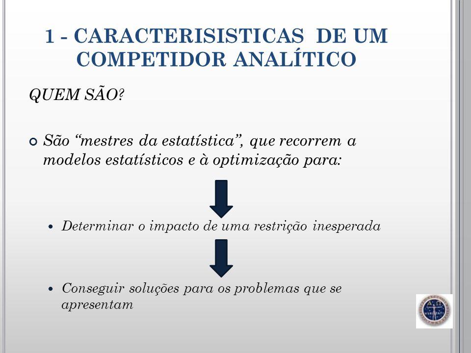 1 - CARACTERISISTICAS DE UM COMPETIDOR ANALÍTICO