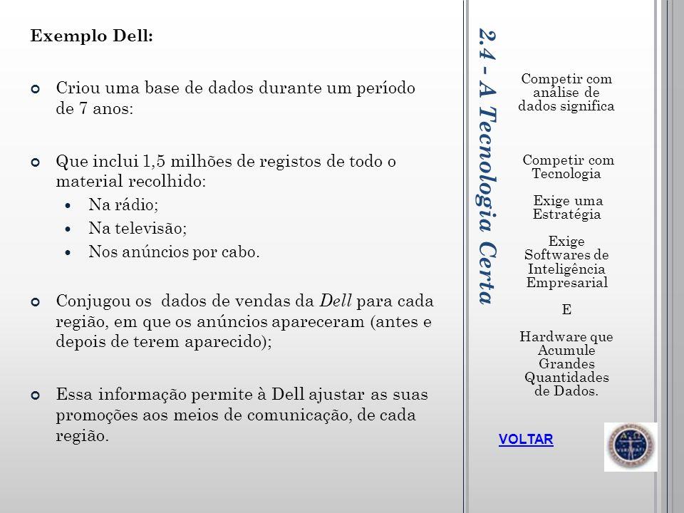 2.4 - A Tecnologia Certa Exemplo Dell: