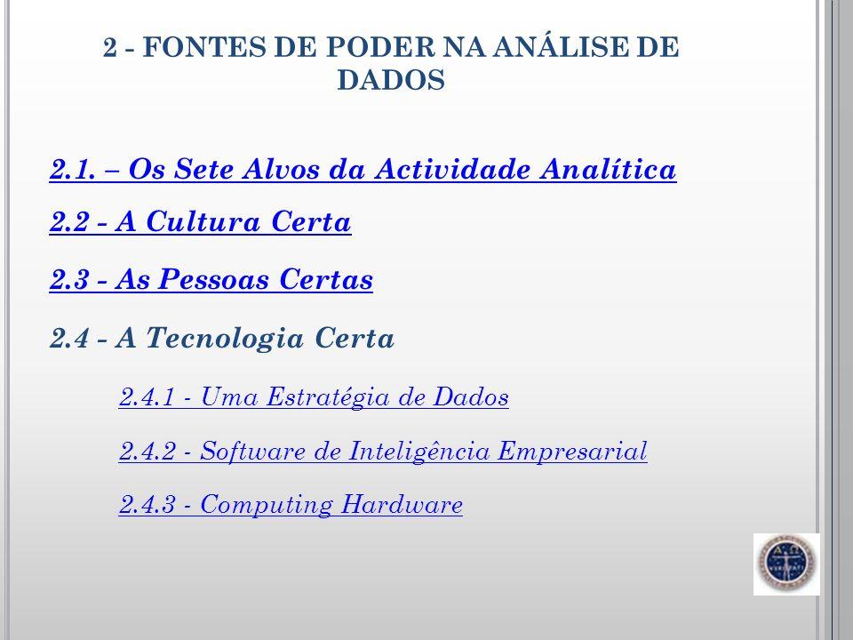2 - FONTES DE PODER NA ANÁLISE DE DADOS