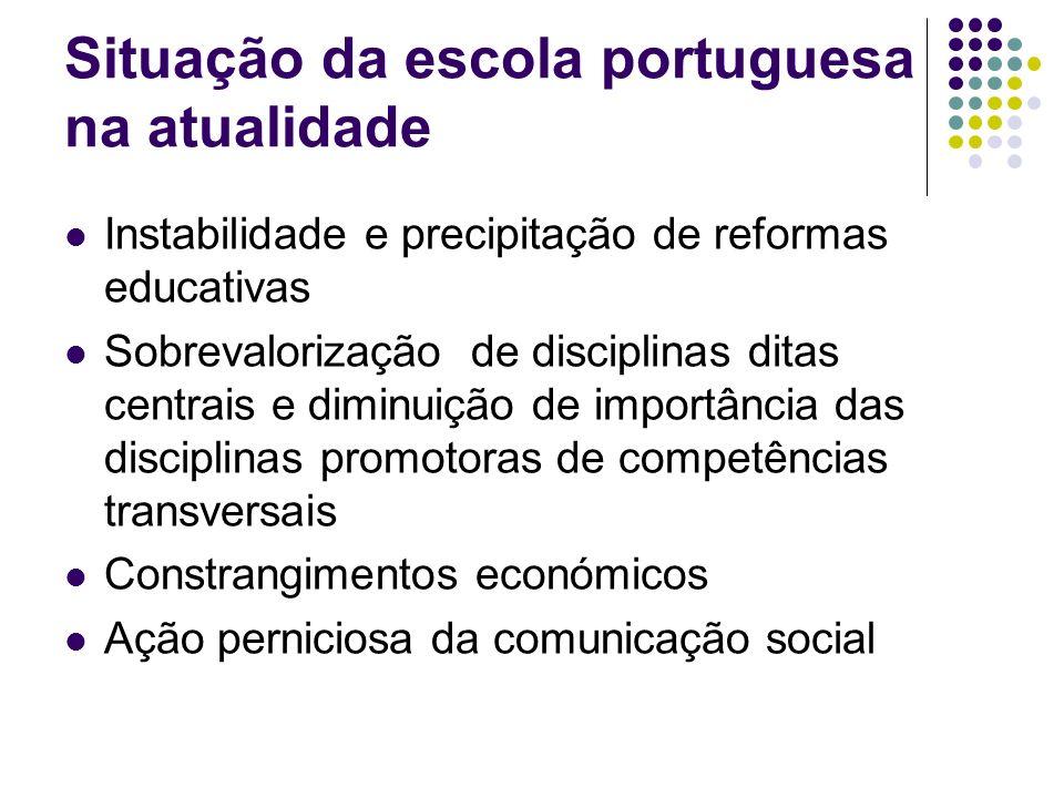 Situação da escola portuguesa na atualidade