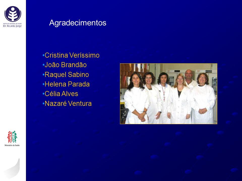 Agradecimentos Cristina Veríssimo João Brandão Raquel Sabino