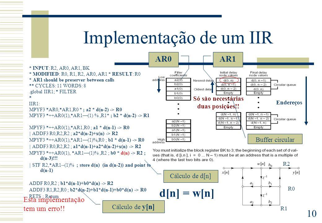 Implementação de um IIR