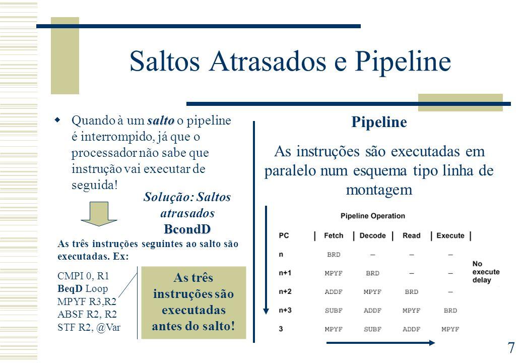 Saltos Atrasados e Pipeline