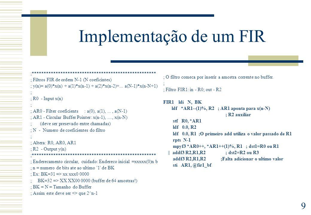 Implementação de um FIR