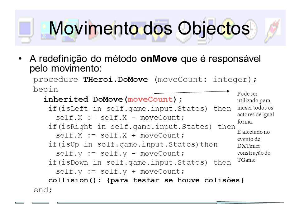 Movimento dos Objectos