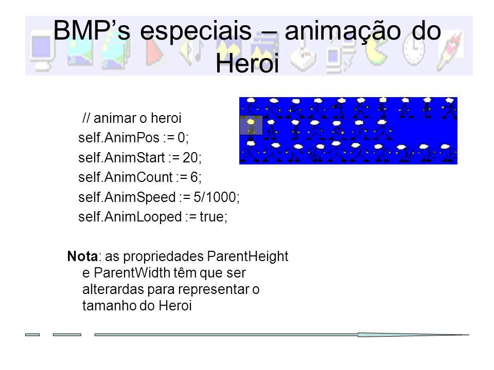 BMP's especiais – animação do Heroi