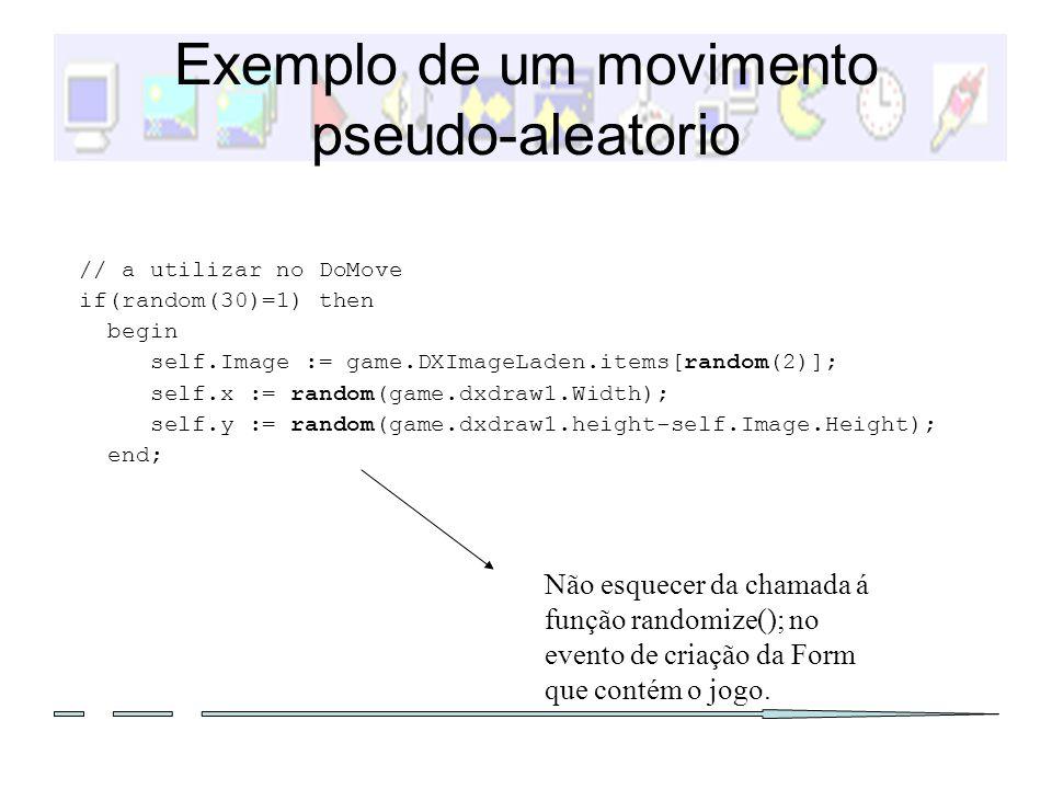 Exemplo de um movimento pseudo-aleatorio