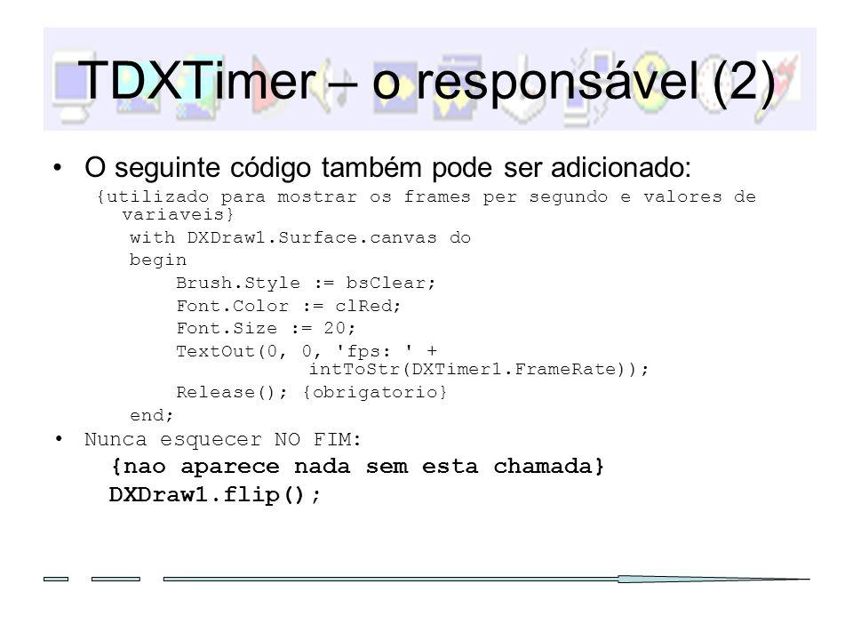 TDXTimer – o responsável (2)