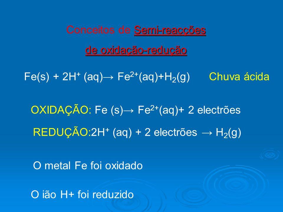Conceitos de Semi-reacções
