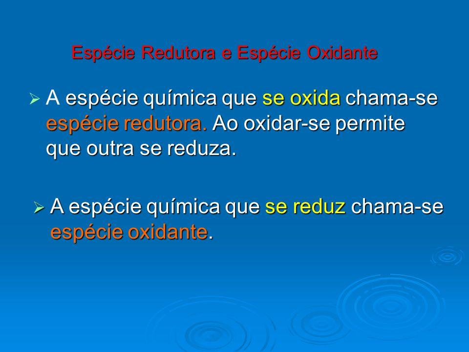 Espécie Redutora e Espécie Oxidante