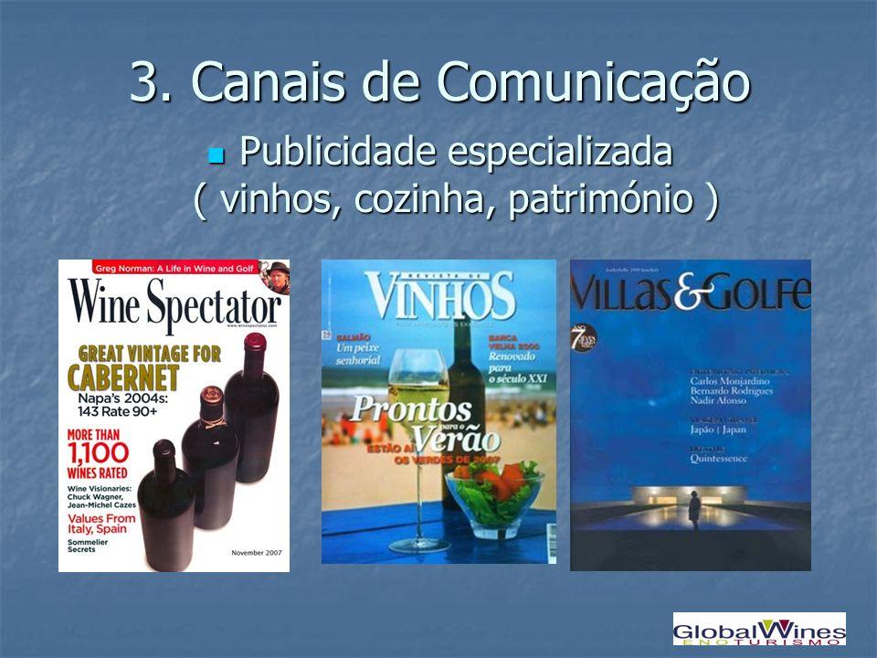Publicidade especializada ( vinhos, cozinha, património )