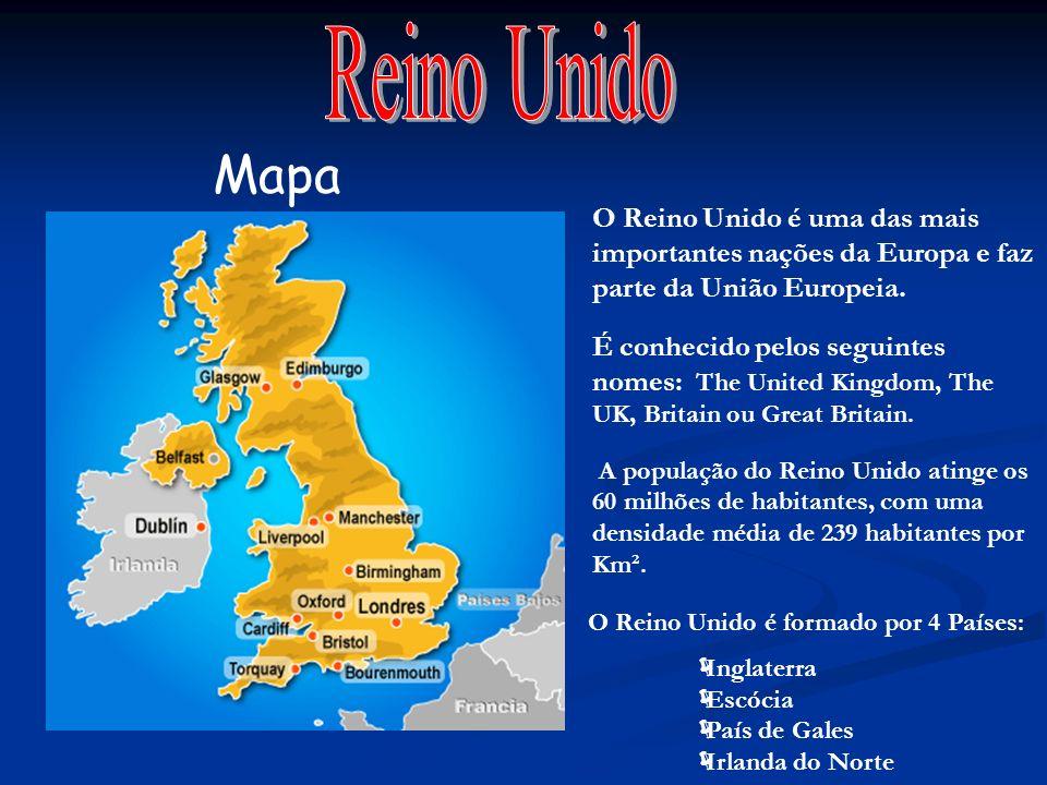 Reino Unido Mapa O Reino Unido é uma das mais