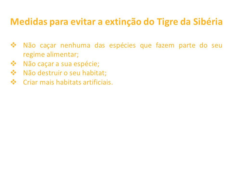 Medidas para evitar a extinção do Tigre da Sibéria