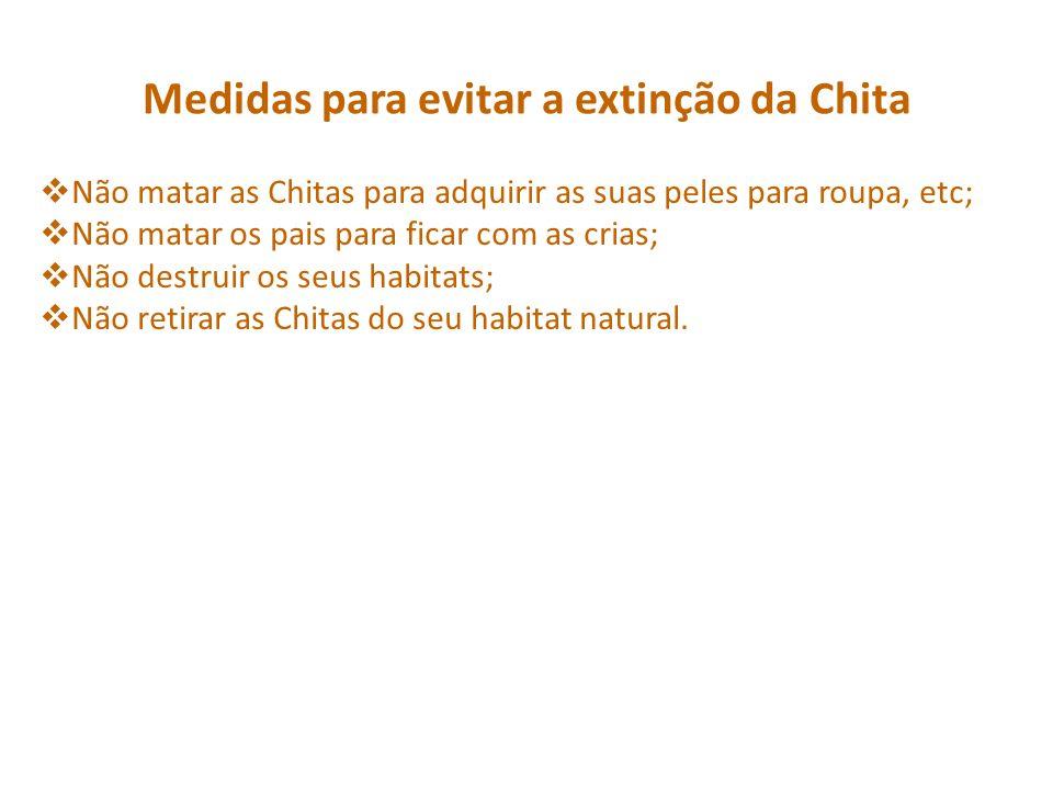 Medidas para evitar a extinção da Chita