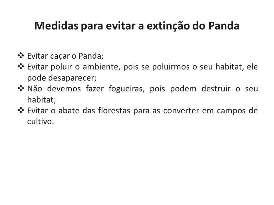 Medidas para evitar a extinção do Panda
