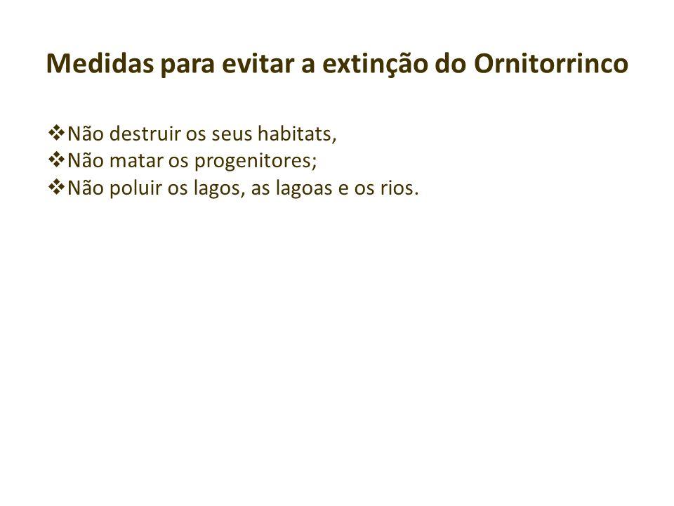 Medidas para evitar a extinção do Ornitorrinco