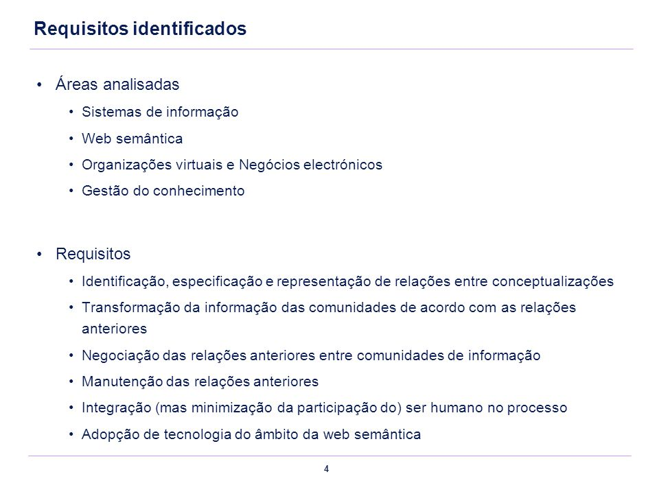Requisitos identificados