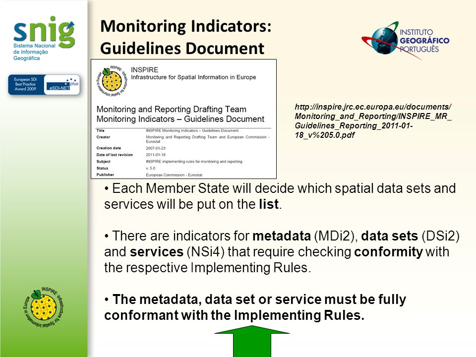 Monitoring Indicators: Guidelines Document