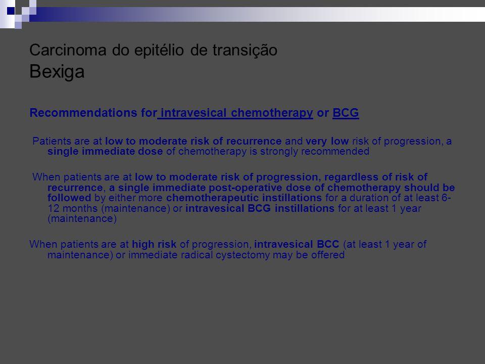 Carcinoma do epitélio de transição Bexiga