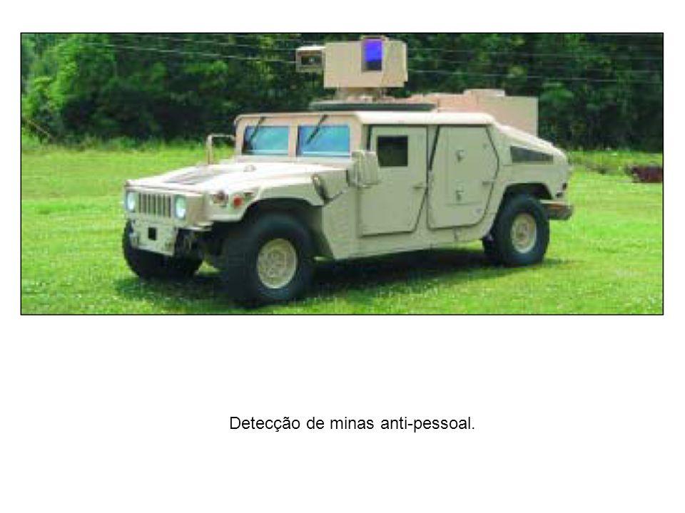 Detecção de minas anti-pessoal.