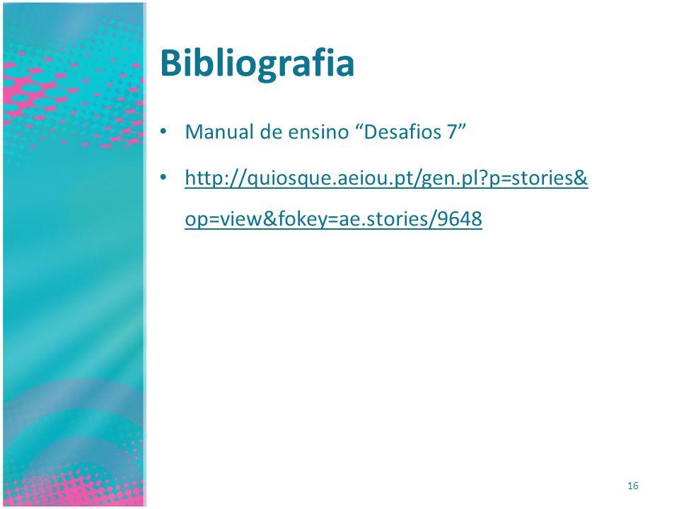 Bibliografia Manual de ensino Desafios 7