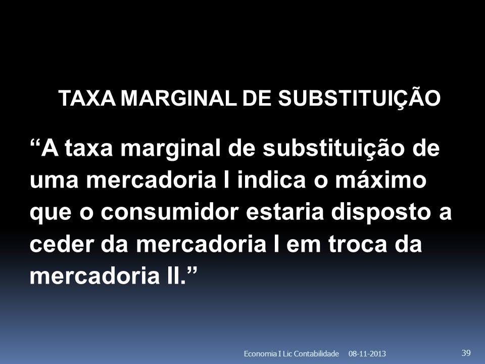TAXA MARGINAL DE SUBSTITUIÇÃO