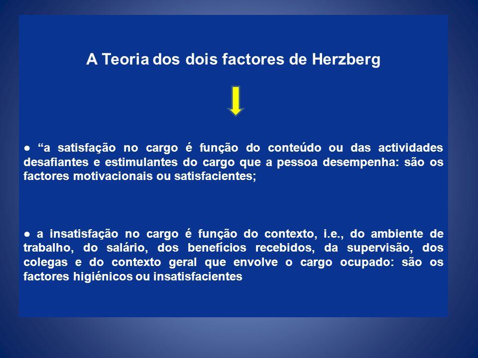 A Teoria dos dois factores de Herzberg