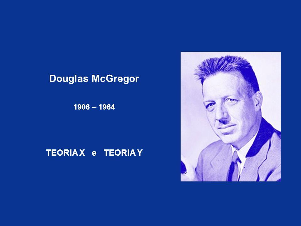 Douglas McGregor 1906 – 1964 TEORIA X e TEORIA Y