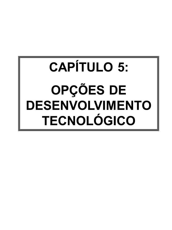OPÇÕES DE DESENVOLVIMENTO TECNOLÓGICO