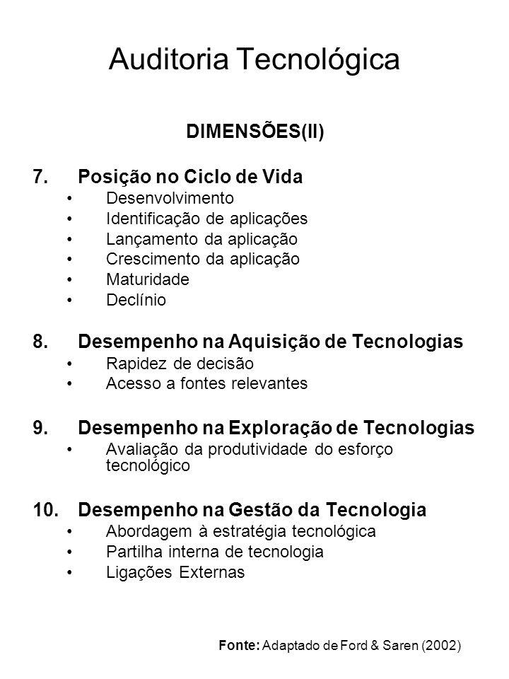 Auditoria Tecnológica