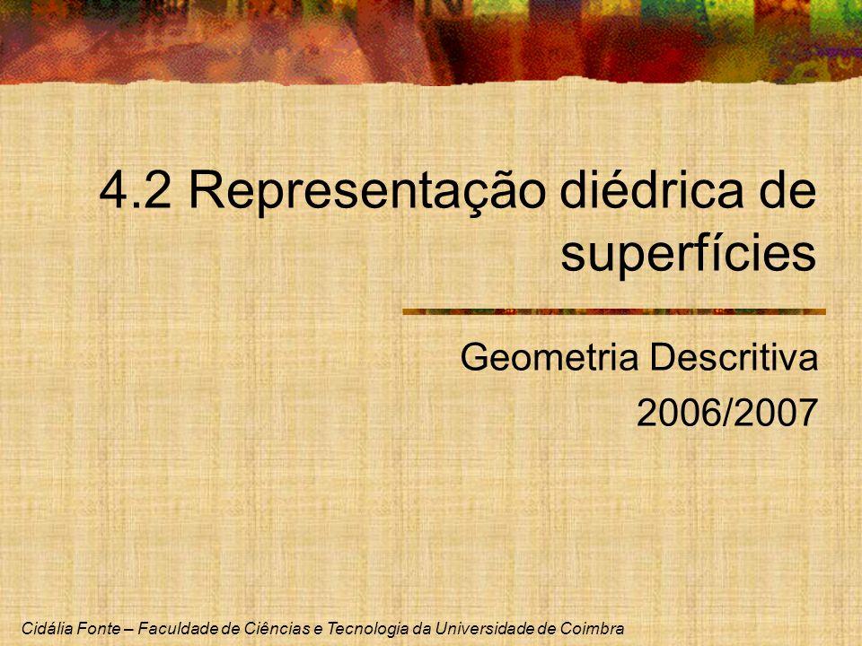 4.2 Representação diédrica de superfícies