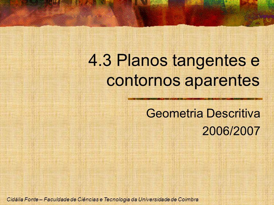 4.3 Planos tangentes e contornos aparentes